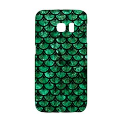 Scales3 Black Marble & Green Marble Samsung Galaxy S6 Edge Hardshell Case by trendistuff