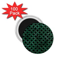 Scales2 Black Marble & Green Marble (r) 1 75  Magnet (100 Pack)  by trendistuff