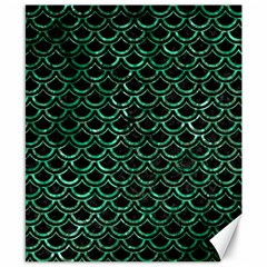 Scales2 Black Marble & Green Marble (r) Canvas 8  X 10  by trendistuff