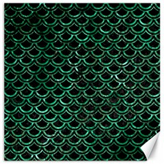 Scales2 Black Marble & Green Marble (r) Canvas 20  X 20  by trendistuff