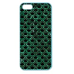 Scales2 Black Marble & Green Marble (r) Apple Seamless Iphone 5 Case (color) by trendistuff