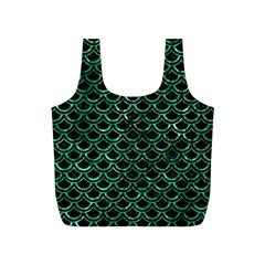 Scales2 Black Marble & Green Marble (r) Full Print Recycle Bag (s) by trendistuff