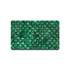 Scales2 Black Marble & Green Marble Magnet (name Card) by trendistuff