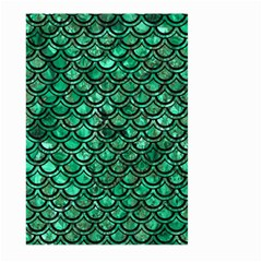 Scales2 Black Marble & Green Marble Large Garden Flag (two Sides)