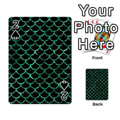 Scales1 Black Marble & Green Marble (r) Playing Cards 54 Designs by trendistuff