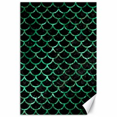 Scales1 Black Marble & Green Marble (r) Canvas 20  X 30  by trendistuff