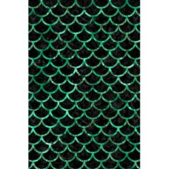 Scales1 Black Marble & Green Marble (r) 5 5  X 8 5  Notebook