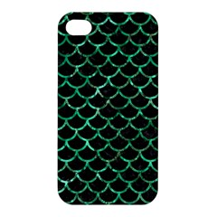 Scales1 Black Marble & Green Marble (r) Apple Iphone 4/4s Hardshell Case by trendistuff