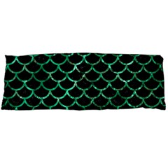 Scales1 Black Marble & Green Marble (r) Body Pillow Case (dakimakura)