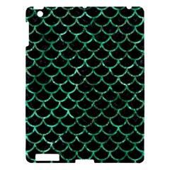 Scales1 Black Marble & Green Marble (r) Apple Ipad 3/4 Hardshell Case by trendistuff