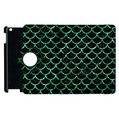 Scales1 Black Marble & Green Marble (r) Apple Ipad 2 Flip 360 Case by trendistuff