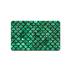Scales1 Black Marble & Green Marble Magnet (name Card) by trendistuff