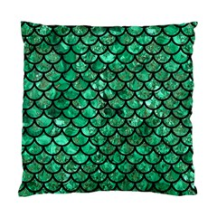 Scales1 Black Marble & Green Marble Standard Cushion Case (one Side) by trendistuff