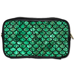 Scales1 Black Marble & Green Marble Toiletries Bag (two Sides) by trendistuff