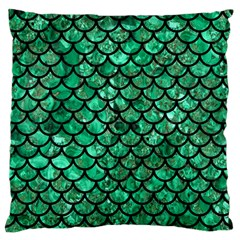 Scales1 Black Marble & Green Marble Standard Flano Cushion Case (one Side) by trendistuff