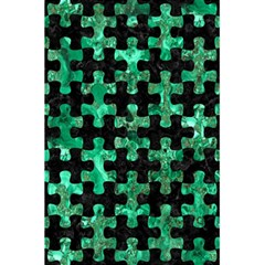 Puzzle1 Black Marble & Green Marble 5 5  X 8 5  Notebook by trendistuff