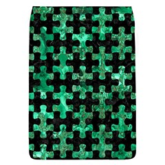 Puzzle1 Black Marble & Green Marble Removable Flap Cover (l) by trendistuff