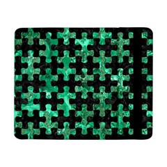 Puzzle1 Black Marble & Green Marble Samsung Galaxy Tab Pro 8 4  Flip Case by trendistuff