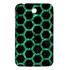 Hexagon2 Black Marble & Green Marble (r) Samsung Galaxy Tab 3 (7 ) P3200 Hardshell Case  by trendistuff