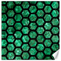 Hexagon2 Black Marble & Green Marble Canvas 12  X 12  by trendistuff