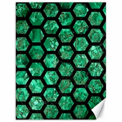 Hexagon2 Black Marble & Green Marble Canvas 18  X 24  by trendistuff