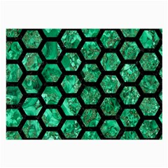 Hexagon2 Black Marble & Green Marble Large Glasses Cloth by trendistuff