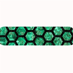 Hexagon2 Black Marble & Green Marble Large Bar Mat