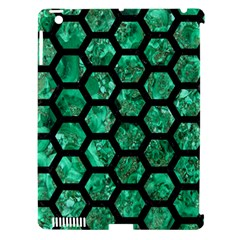 Hexagon2 Black Marble & Green Marble Apple Ipad 3/4 Hardshell Case (compatible With Smart Cover) by trendistuff