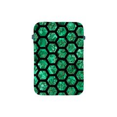 Hexagon2 Black Marble & Green Marble Apple Ipad Mini Protective Soft Case by trendistuff