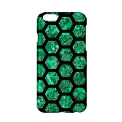 Hexagon2 Black Marble & Green Marble Apple Iphone 6/6s Hardshell Case by trendistuff