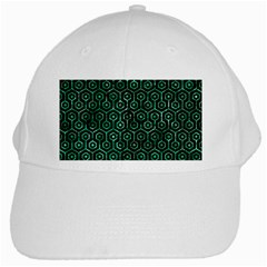 Hexagon1 Black Marble & Green Marble (r) White Cap by trendistuff
