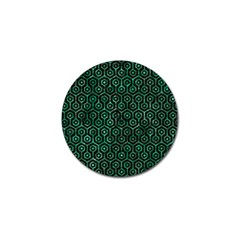 Hexagon1 Black Marble & Green Marble (r) Golf Ball Marker (4 Pack) by trendistuff