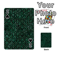 Hexagon1 Black Marble & Green Marble (r) Playing Cards 54 Designs by trendistuff