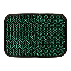 Hexagon1 Black Marble & Green Marble (r) Netbook Case (medium) by trendistuff