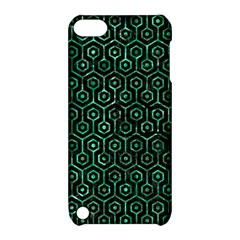 Hexagon1 Black Marble & Green Marble (r) Apple Ipod Touch 5 Hardshell Case With Stand by trendistuff