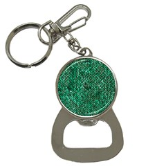 Hexagon1 Black Marble & Green Marble Bottle Opener Key Chain by trendistuff