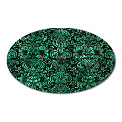 Damask2 Black Marble & Green Marble (r) Magnet (oval) by trendistuff
