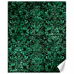 Damask2 Black Marble & Green Marble (r) Canvas 16  X 20  by trendistuff