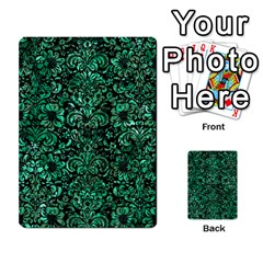 Damask2 Black Marble & Green Marble (r) Multi Purpose Cards (rectangle) by trendistuff