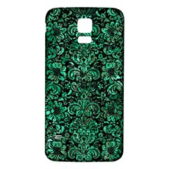 Damask2 Black Marble & Green Marble (r) Samsung Galaxy S5 Back Case (white)