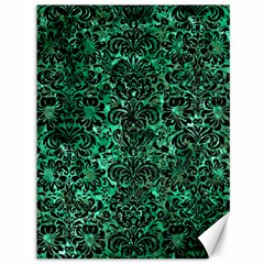 Damask2 Black Marble & Green Marble Canvas 36  X 48  by trendistuff