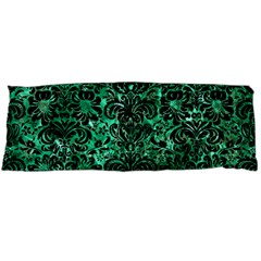 Damask2 Black Marble & Green Marble Body Pillow Case Dakimakura (two Sides) by trendistuff
