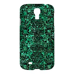Damask2 Black Marble & Green Marble Samsung Galaxy S4 I9500/i9505 Hardshell Case by trendistuff