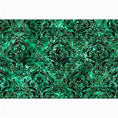Damask1 Black Marble & Green Marble (r) Collage 12  X 18  by trendistuff