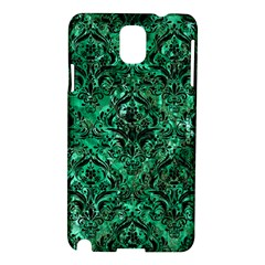 Damask1 Black Marble & Green Marble (r) Samsung Galaxy Note 3 N9005 Hardshell Case by trendistuff