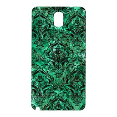 Damask1 Black Marble & Green Marble (r) Samsung Galaxy Note 3 N9005 Hardshell Back Case by trendistuff