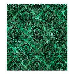 Damask1 Black Marble & Green Marble Shower Curtain 66  X 72  (large)