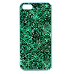 Damask1 Black Marble & Green Marble Apple Seamless Iphone 5 Case (color) by trendistuff