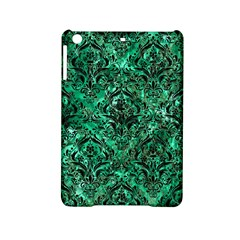 Damask1 Black Marble & Green Marble Apple Ipad Mini 2 Hardshell Case