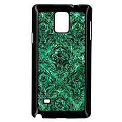 Damask1 Black Marble & Green Marble Samsung Galaxy Note 4 Case (black)